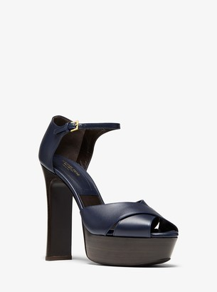 Michael Kors Collection Huxley Leather Platform Sandal