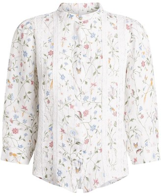 120% Lino Linen Floral Shirt