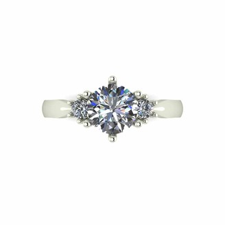 Moissanite 1.16 Carat 9 Carat Yellow Gold Solitaire Ring with Stone Set Shoulders