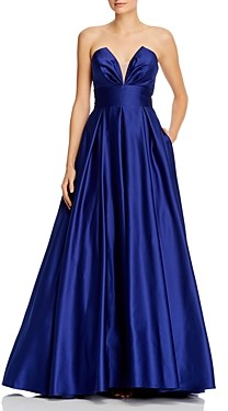Aqua Illusion-v-Neck Ballgown - 100% Exclusive