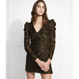 Rachel Zoe Amari Lurex Velvet Burnout Mini Dress