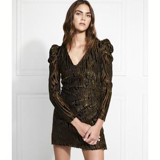 Rachel Zoe Amari Lurex Velvet Burnout Mini Dress