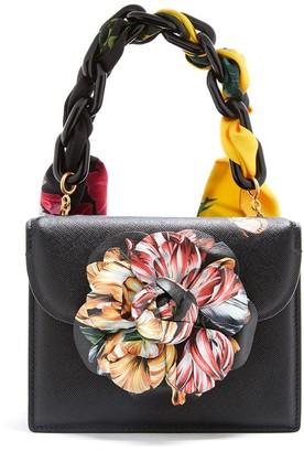 Oscar de la Renta Printed Flower Mini TRO Bag