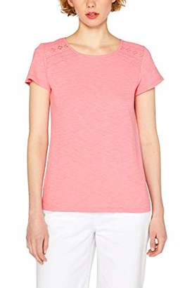 Esprit edc by Women's 049CC1K024 T-Shirt, (White 110), S