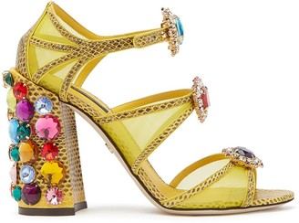 Dolce & Gabbana Bejewelled Strappy Sandals