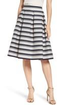 Eliza J Women's Stripe Jacquard Midi Skirt