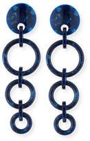 Lele Sadoughi Marbled Wind Chime Earrings, Ocean Blue