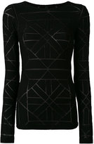 Gareth Pugh sheer panel detail sweater