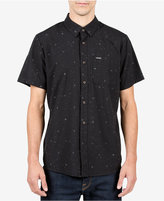 Volcom Men's White Noise Graphic-Print Shirt