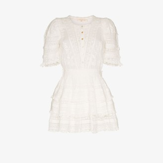 LoveShackFancy Quincy ruffle cotton mini dress
