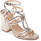 Badgley Mischka Shari Metallic Strappy Sandal
