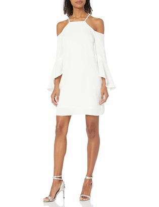 Laundry by Shelli Segal Women's Criss Cross Flutter Cold Shoulder
