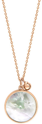 ginette_ny Maria 18K Rose Gold Mother-Of-Pearl Disc Necklace