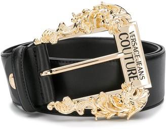 Versace baroque embellished buckle belt