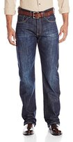 Stetson Men's 1312 Relaxed Fit Jeans With Flag Detail Boot Cut - 11-004-1312-4039 Bu