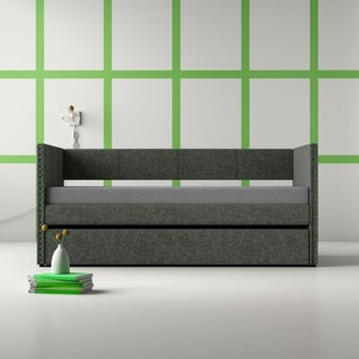 Hashtag Home Yelton Twin Daybed with Trundle Hashtag Home Color (Frame): Gray