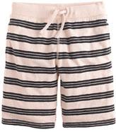 J.Crew Boys' pull-on knit short in navy stripe