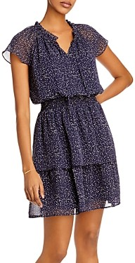 Aqua Smocked Tiered Mini Dress - 100% Exclusive