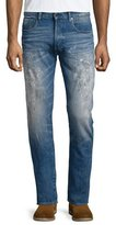 G Star G-Star Faded Denim Jeans with Paint Details, Scatter Denim