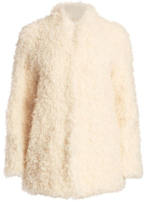 Frame Faux Mongolian Fur Coat