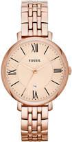 Fossil Women's Jacqueline Rose Gold-Tone Stainless Steel Bracelet Watch 36mm ES3435
