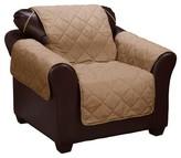 Serta Dark Taupe No Slip Furniture Protector Stonewear Chair Slipcover