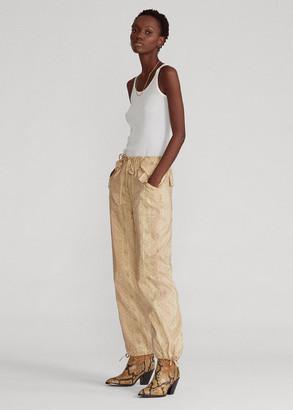 Ralph Lauren Floral Silk-Blend Cargo Pant