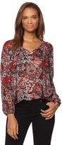 Jones New York Printed Boho Blouse