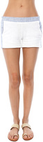 SALE Monrow Vintage Shorts With Linen Stripe