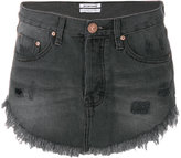 One Teaspoon distressed mini denim skirt