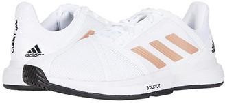 adidas CourtJam Bounce (Footwear White/Copper Metallic/Core Black) Women's Shoes