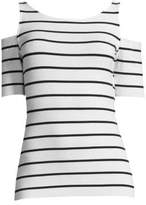 Bailey 44 Striped Cold-Shoulder Deneuve Top