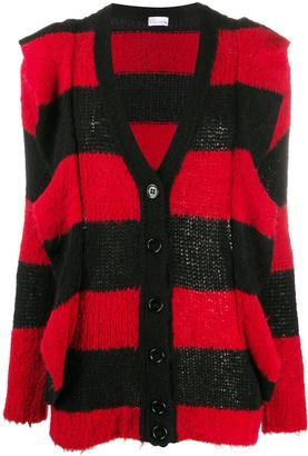 RED Valentino Striped Maxi Cardigan