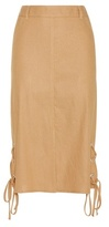 See by Chloe Linen and cotton skirt