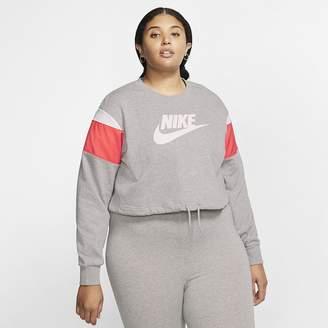 Nike Women's Fleece Crew (Plus Size Sportswear Heritage