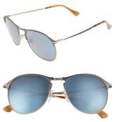 Persol Men's Sartoria 56M Aviator Sunglasses - Blue Brown