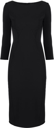 Elisabetta Franchi Boat Neck Fitted Dress