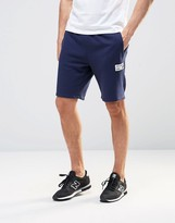 New Balance Logo Shorts In Navy Ems61710
