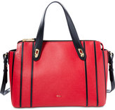 Lauren Ralph Lauren Newbury Saffiano Stripes Mini Emily Satchel