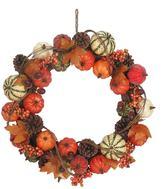 Celebrate Fall Together Artificial Pumpkin Wreath