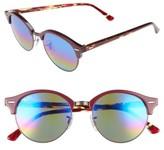 Ray-Ban Women's Clubround 51Mm Mirrored Rainbow Round Sunglasses - Red Rainbow
