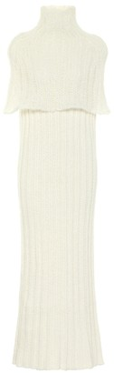 Jil Sander Ribbed-knit wool-blend midi dress
