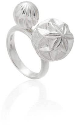 Tane Sterling Silver Ring With Cactus Motif