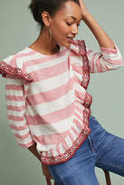 Corey Lynn Calter Ruffled Stripe Top
