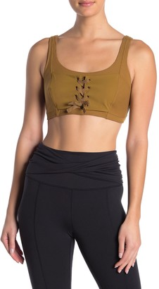 Free People Before You Go Lace Up Sports Bra