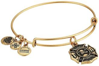 Alex and Ani Firefighter Bangle (Rafaelian Gold) Bracelet