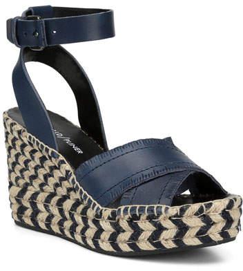 Donald J Pliner Ines Leather Wedge Espadrille Sandals