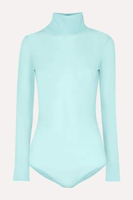 Maison Margiela Stretch-jersey Turtleneck Bodysuit - Turquoise