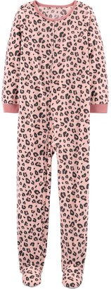 Carter's Girls 4-14 1-Piece Fleece Footie PJs