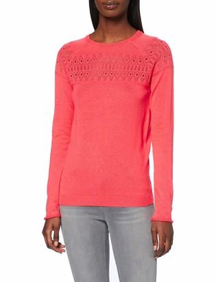 Dorothy Perkins Women's Coral Plain Pointelle Yoke Jumper Sweater 22
